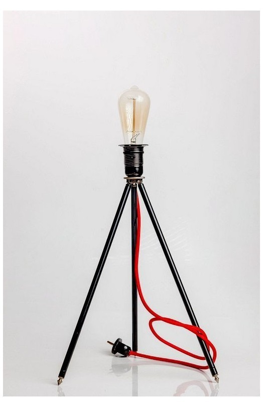 Lampa odrestaurowana mini statyw Rotu